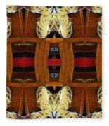 Death - Card Xi From The Tarot Of Flowers Fleece Blanket