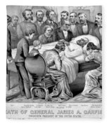 Death Of Garfield, 1881 Fleece Blanket