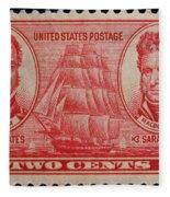Decatur And Macdonagh Postage Stamp Fleece Blanket