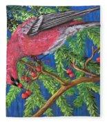 December Berries Fleece Blanket