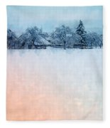 December Snow Fleece Blanket
