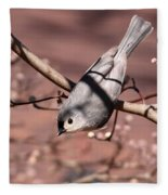 Decked Out - Tufted Titmouse Fleece Blanket