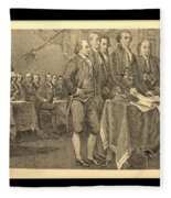 Declaration Of Independence In Sepia Fleece Blanket