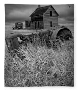 Decline Of The Small Farm No.2 Fleece Blanket