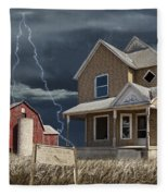 Decline Of The Small Farm Number 6 Version 2 Fleece Blanket