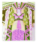 Deco Ladies Frostwork And Iris Fleece Blanket