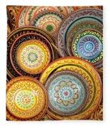 Decorative Plates Provence France Fleece Blanket