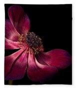 Deep Pink Anemone - 2 Fleece Blanket