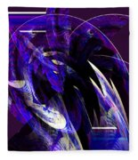 Deep Purple Abstract Fleece Blanket