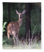 Deer - Doe - Nearing The Edge Fleece Blanket