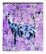 Deer In The Woods Inverted Negative Image Fleece Blanket
