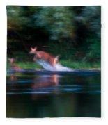 Deer Splash Fleece Blanket
