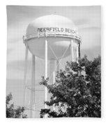Deerfield Beach Tower In Black And White Fleece Blanket