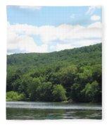 Delaware Water Gap Scenery Fleece Blanket