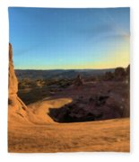 Delicate Arch Bowl Fleece Blanket