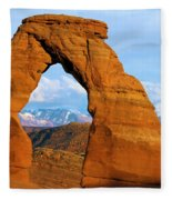 Delicate Arch Closeup Fleece Blanket