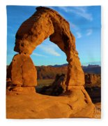 Delicate Arch Portrait Fleece Blanket