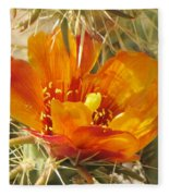 Delicate Cactus Flower Fleece Blanket