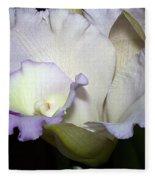 Delicate Purple Orchid Fleece Blanket