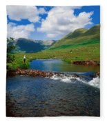 Delphi Fishery, Co Mayo, Ireland Fleece Blanket