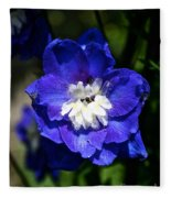Delphinium Face Fleece Blanket