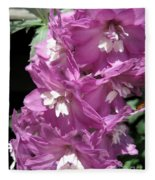 Delphinium Named Magic Fountains Lilac Pink Fleece Blanket