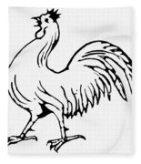 Democratic Rooster, 1840 Fleece Blanket