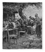 Denmark: Fishermen, 1901 Fleece Blanket