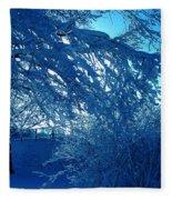 Denmark In Winter Fleece Blanket