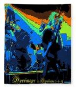 Derringer Rock Spokane 1977 Fleece Blanket