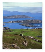 Derrynane Harbour, Caherdaniel, Ring Of Fleece Blanket