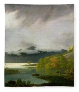 Derwent Water With Skiddaw In The Distance Fleece Blanket
