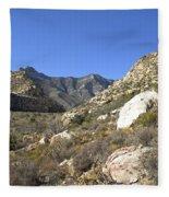 Desert And Mountains Fleece Blanket
