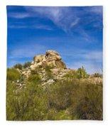 Desert Boulders Fleece Blanket