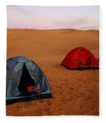 Desert Camping Fleece Blanket