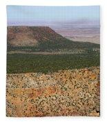 Desert Watch Tower View Fleece Blanket