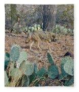 Desert Wolf Fleece Blanket