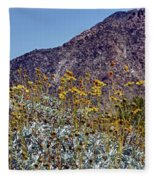 Desert Yellow Fleece Blanket