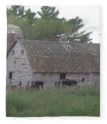 Deserted Barn Fleece Blanket