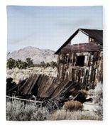 Deserted Desert Dwelling Fleece Blanket