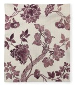 Design For A Silk Damask Fleece Blanket