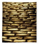 Detail Of Cobblestones, Dublin, Ireland Fleece Blanket