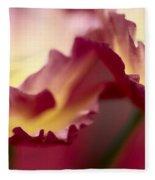 Detail Of Crimson Colored Rose Petals Fleece Blanket