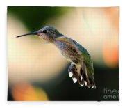 Determined Hummingbird Fleece Blanket