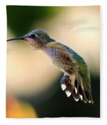 Determined Hummingbird Fleece Blanket