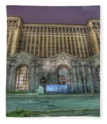 Detroit's Michigan Central Station - Michigan Central Depot Fleece Blanket