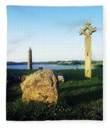 Devenish Island, Co Fermanagh, Ireland Fleece Blanket