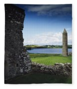Devenish Monastic Site, Lough Erne, Co Fleece Blanket