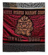 Devil Dogs Fleece Blanket