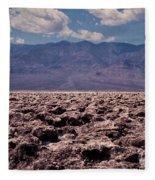Devil's Golf Course At Death Valley Fleece Blanket